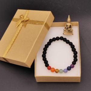 bracelet 7 chakra yoga soleyana création bijoux pierres semi précieuses